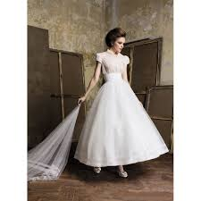 vintage short sleeves wedding dress star bride apparel 2017