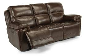 flexsteel latitudes fenwick leather power reclining sofa w power