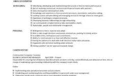 Operation Manager Resume Maintenance Manager Resume The Best Resume