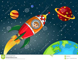 happy kid exploring in space rocket stock photos image 30595353