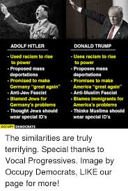 Memes Anti America - adolf hitler used racism to rise to power proposed mass deportations