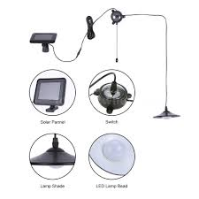 solar powered led hanging light shed garage barn lighting remote