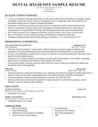 Dental Resumes Samples by Registered Dental Hygienist Resume Sample Orthodontic Technician