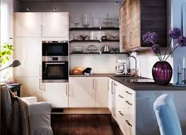 Floating Cabinets Kitchen Modern Small Kitchen Ideas For Apartment With White Wooden Kitchen