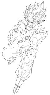 goku super saiyan lineart by frost z on deviantart