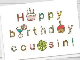 cousin birthday card birthday cousin card