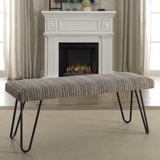 Contemporary Upholstered Bench Coaster Benches Mid Century Modern Upholstered Bench Coaster