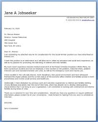cover letter social work examples job seeking pinterest