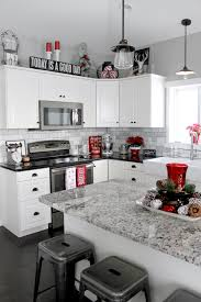 black and white kitchen decorating ideas home tour 2015 black plaid and check