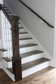 Railings And Banisters Ideas Craftsman Staircase Transitional Staircase Houston