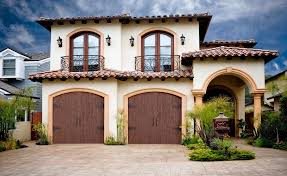 ranch house doors elements collection faux wood garage doors curb