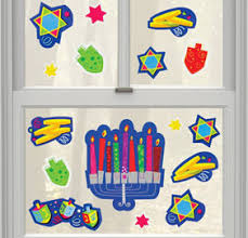 hanukkah window decorations hanukkah cling decals 15ct party city canada
