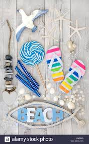 seashell flip flops abstract collage with flip flops candy rock seashells