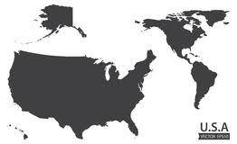 united states including alaska and hawaii blank map blank similar usa map on white background united states of