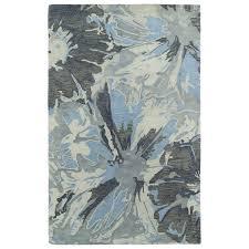 Teal And Gray Area Rug by Shop Kaleen Brushstrokes Grey Rectangular Indoor Handcrafted