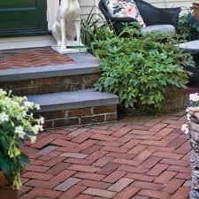 this herringbone zigzagging design helps lock bricks in place and