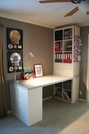 Modular Bookshelves Ikea Workspace Cool Home Office With Ikea Expedit Desk For Your