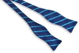 sunday brunch stripe bow tie teal high cotton