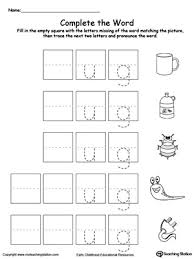 early childhood word families worksheets word families family