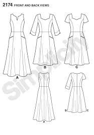 dress pattern brands simplicity pattern 2174 misses miss petite amzing fit dresses