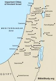 map of cities important cities of ancient israel map