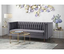 Grey Velvet Sofa by Sebastian Grey Velvet Sofa Tov S150 Tov Furniture