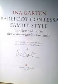 Ina Garten Make Ahead Recipes Ina Garten Signed Abebooks
