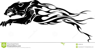 panther flame tattoo stock illustration image of black 32285193