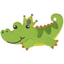 mardi gras alligator alligator mardi gras filled machine embroidery design digitized