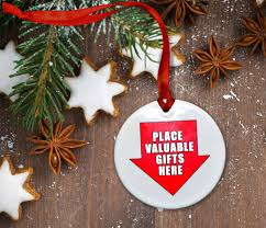 place valuable gifts here ceramic ornament neurons not