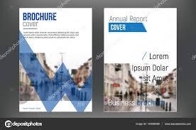 blue set cover business brochure vector designs leaflet