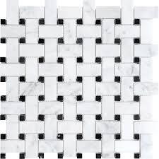 shop anatolia tile venatino polished basketweave mosaic marble