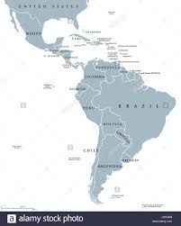 Blank Latin America Map by A Map Of South America And All Countries With Their Flags Shaped