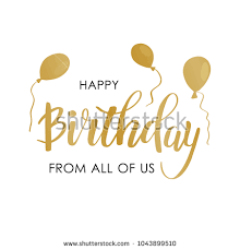 text birthday card happy birthday greeting card lettering design stock vector