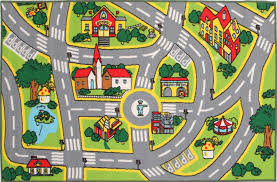 Kids Street Rug by Kids Non Slip Road Map City Rug U2013 Rugs N Timber