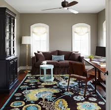 25 inspirations showcasing hot home office trends rug adds color and pattern to the stylish home office design molly quinn design