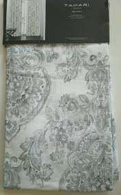 Tahari Home Drapes by New Tahari Floral Jacobean 2 Curtains Window Panels Medallion Gray