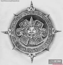 dreadful aztec sun tattoo design tattoo viewer com