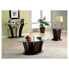iohomes mellie modern flared glass top sofa table dark cherry target