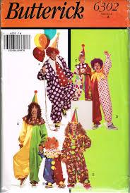 butterick halloween costumes children u0027s clown costume pattern butterick 6302 oversized baggy