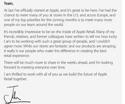apple retail exec sends note to staff business insider