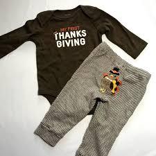 s carters my thanksgiving turkey brown onesie from