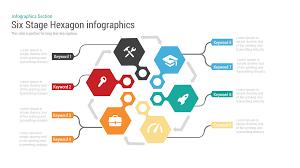 Fishbone Diagram Template Powerpoint Free by Six Stage Hexagon Chart Powerpoint Keynote Template Slidebazaar