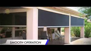 Wind Screens For Patios by Fortress Zipper Track Shade System For High Winds Youtube