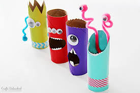 Paper Roll Crafts For Kids - toilet paper roll crafts recycled monster treat holders