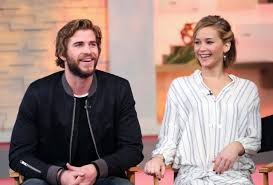 chris martin and jennifer lawrence jennifer lawrence reveals she made out with liam hemsworth when