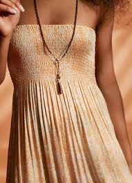 beach dress in micro python print in orange u2013 hansine