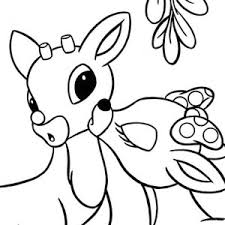 clarice kiss rudolph red nosed reindeer coloring color luna