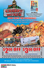 Seafood Buffets In Myrtle Beach Sc by Crabby Mike U0027s Calabash Seafood Co Myrtle Beach Resorts