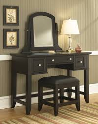 White Bedroom Vanity Table With Tilt Mirror Cushioned Bench Remarkable Bedroom Interior Features Chic Bedroom Vanity Sets